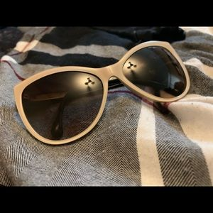 bbbef3f5373 Chanel cat eye beige and black sunglasses